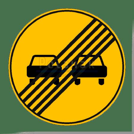 Дорожный знак 3.21 Конец зоны запрещения обгона (временный)