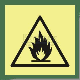 W 01ФС  Пожароопасно. Легковоспламеняющиеся вещества