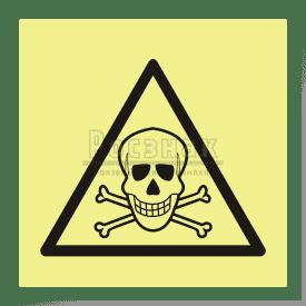 W 03ФС  Опасно. Ядовитые вещества