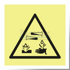 W 04ФС  Опасно. Едкие и коррозионные вещества